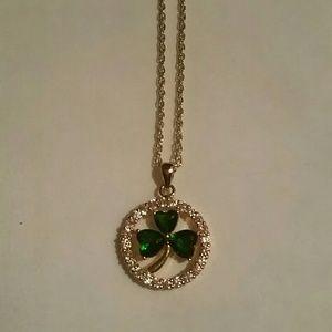 Jewelry - Shamrock CZ Pendant Necklace